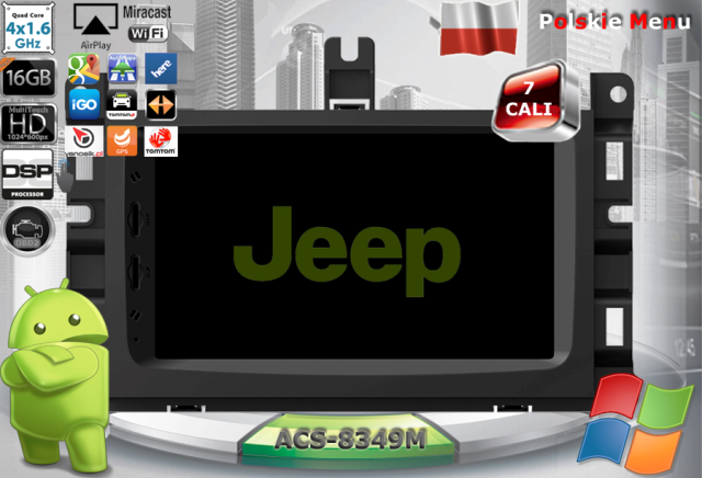 ACS Nawigacja do JEEP+Chrysler+DODGE 2013-> z ANDROID
