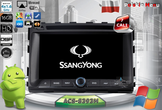 ACS Nawigacja do SsangYong RODIUS 2013-> z ANDROID
