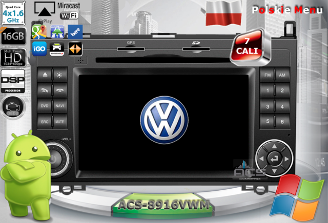 ACS Nawigacja do Volkswagen Crafter 2006-2016 z ANDROID