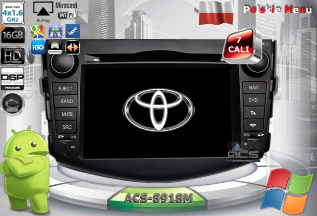 ACS Nawigacja do Toyota RAV4 2006-2012 z ANDROID