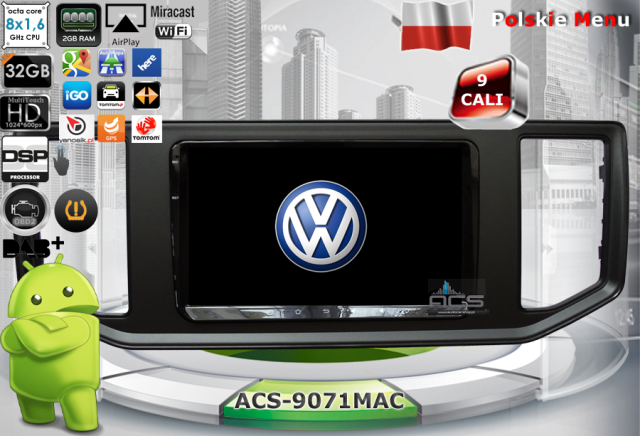 ACS Nawigacja do Volkswagen Crafter 2017-> z ANDROID