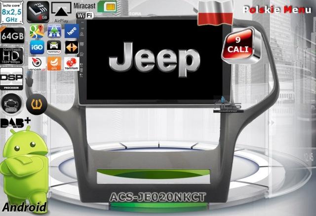 "ACS Nawigacja do JEEP GRAND CHEROKEE 2011-2013 z ANDROID +LCD-9"""
