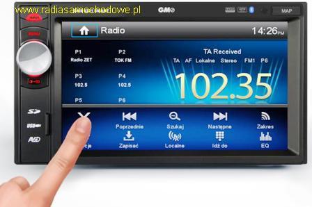 # GMS-6321 SMART jednostka uniwersalna 2DIN z GPS -sterownik USB