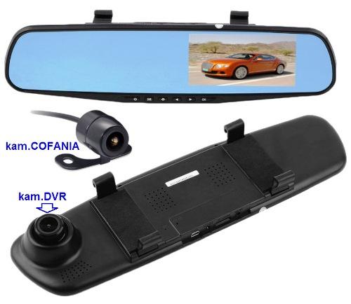 "NVOX DVR-4302MI monitor LCD-4,3"" w lusterku + DVR +kam.cofania"