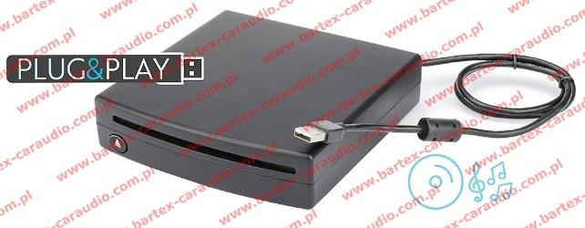 Samochodowy odtwarzacz CD poprzez port USB