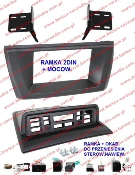 BMW-X3 E83 2004-2010 ramka+mocowanie do radia 2DIN