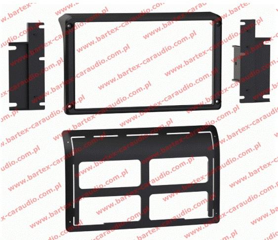 """Jeep WRANGLER 2011-2017 ramka pod radio 2DIN z LCD-8"""""""