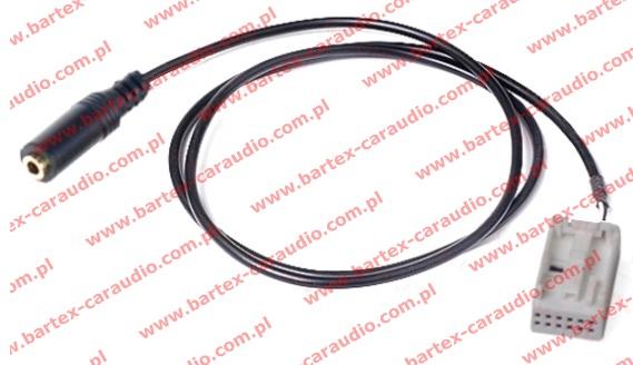 AUDI 2006-> radio fabryczne 12Pin BEZ! MMi - AUX-In +Jack-GN