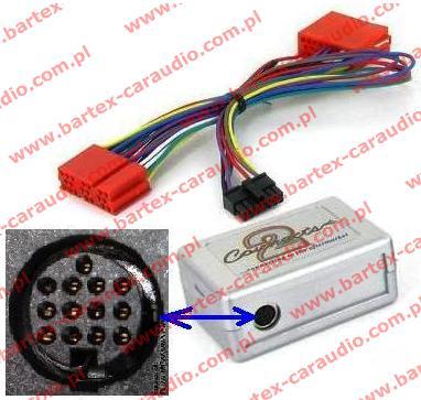Adapter-moduł elektron. do zmieniarki CD KENWOOD<->radio Audi+VW
