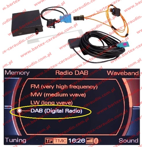 Tuner DAB+ z adapterem do AUDI MMi-2G