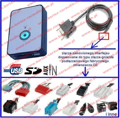 AUDI 1996-2006 radio fabryczne 8Pin AUX-In+USB+SD mod.2