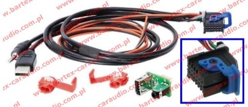 Złącze do ALFA ROMEO 2008-> +inne Fabr.port-USB<->uniw.rad-USB