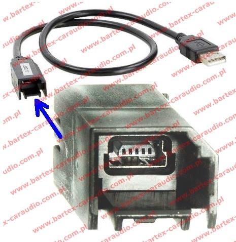 Złącze do General Motors 2010-> fabr.port-USB<->uniw.rad-USB