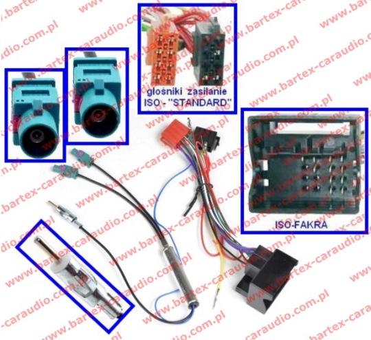 Złącze do SEAT 2004-> +separator FAKRA-DUAL_rozdz->DIN