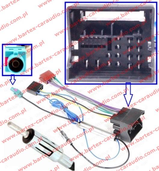 Złącze do VW 2012-> +separator FAKRA->DIN