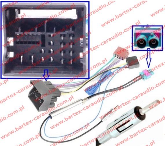 Złącze do VW 2012-> +separator FAKRA-DUAL_zesp->DIN