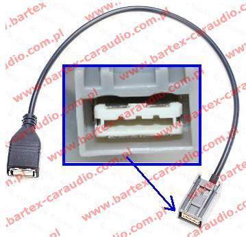 HONDA 2008-> Accord +inne Radio fabr-USB<->gn-USB