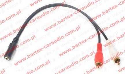 Przewód 2xRCA<->gn.Jack 3,5mm +kab.20cm