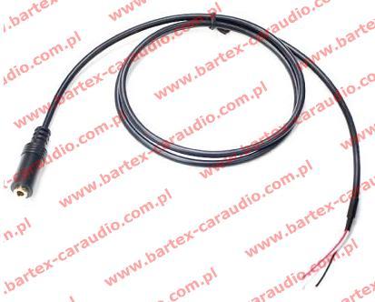 Przewód JACK-gniazdo +kabel 0.8m