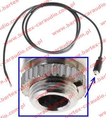 Przewód JACK-gniazdo +kabel 0.8m +przykręcanie