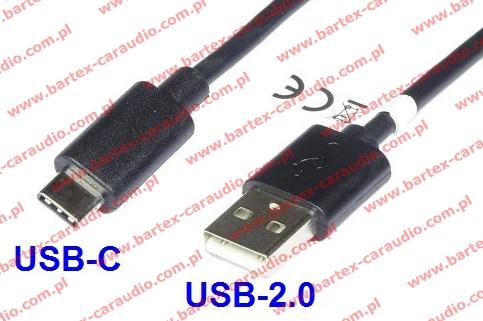Adapter USB-wtyk <-> USB-C_wtyk +kabel 100cm