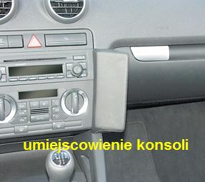 KUDA -konsola do Audi A3 2003-2007