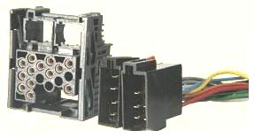 Land Rover 2001-2004 okablowanie radia fabrycznego