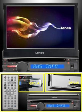 LENCO CS-470DVD sterownik USB+Bluetooth+LCD-7""